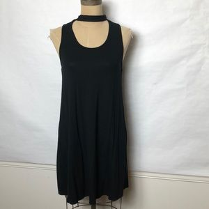 Topshop choker neckline stretch sleeveless dress